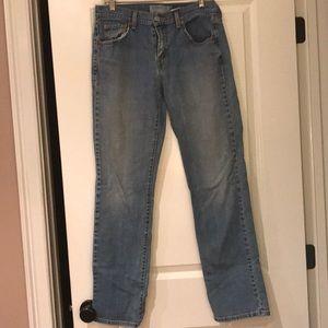 Size 10 L Levi's 505 straight leg jeans